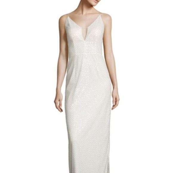 Aidan Mattox Dresses | Beaded Column Gown | Poshmark